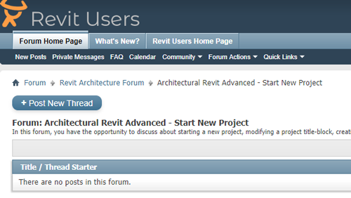 Start New Project Discussion Board