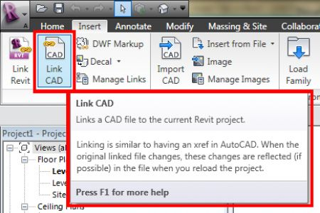 Revit Tutorial Link Cad File